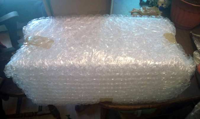 I was very pleased to discover that each enclosure was wrapped in 5-6 layers of bubble wrap.