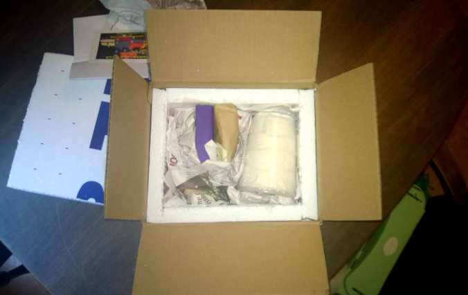 My package from Stamps. Notice how well-packed the specimens are.